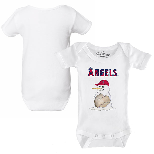 Los Angeles Angels Baseball Snowman Infant Short Sleeve Snapper
