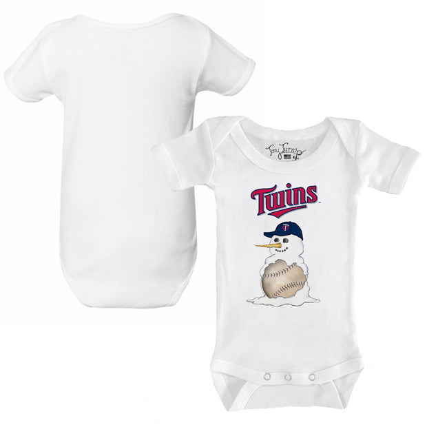 Minnesota Twins Baseball Snowman Infant Short Sleeve Snapper