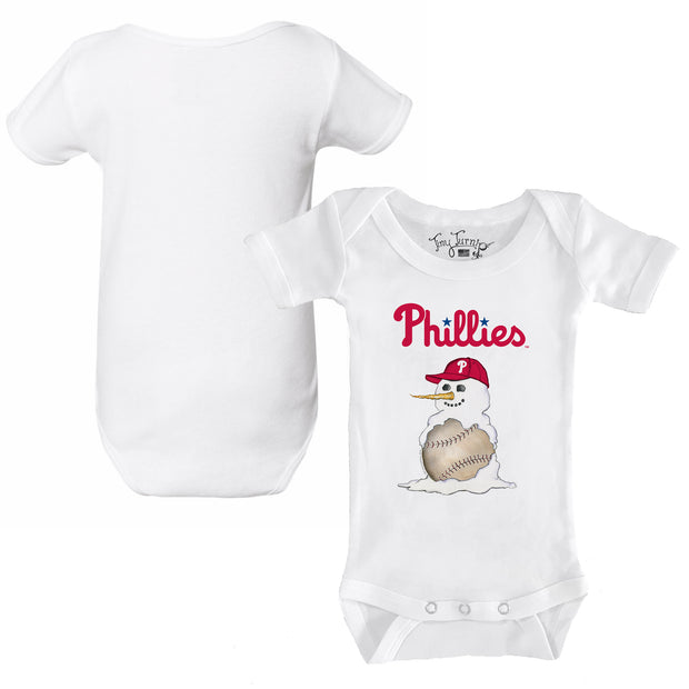 Philadelphia Phillies Baseball Snowman Infant Short Sleeve Snapper