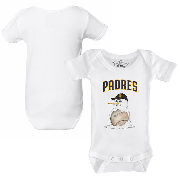 San Diego Padres Baseball Snowman Infant Short Sleeve Snapper