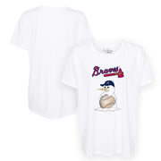 Atlanta Braves Baseball Snowman Tee Shirt