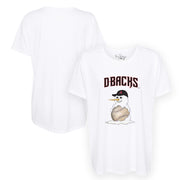 Arizona Diamondbacks Baseball Snowman Tee Shirt