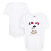 Boston Red Sox Baseball Snowman Tee Shirt