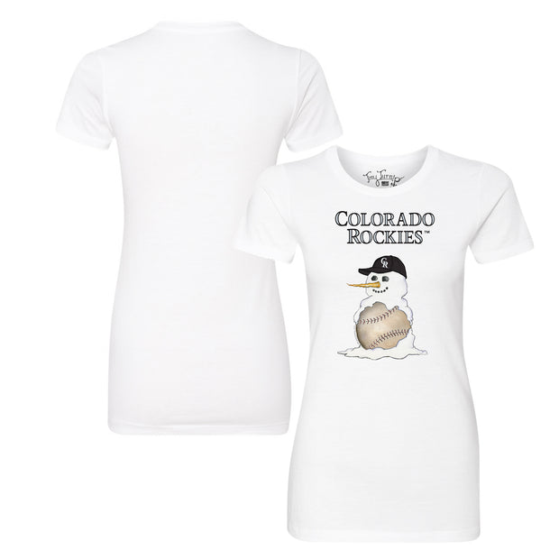 Colorado Rockies Baseball Snowman Tee Shirt