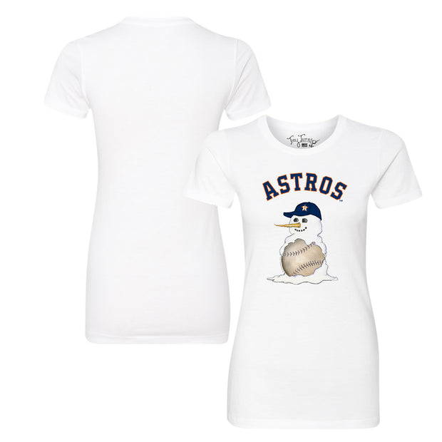 Houston Astros Baseball Snowman Tee Shirt