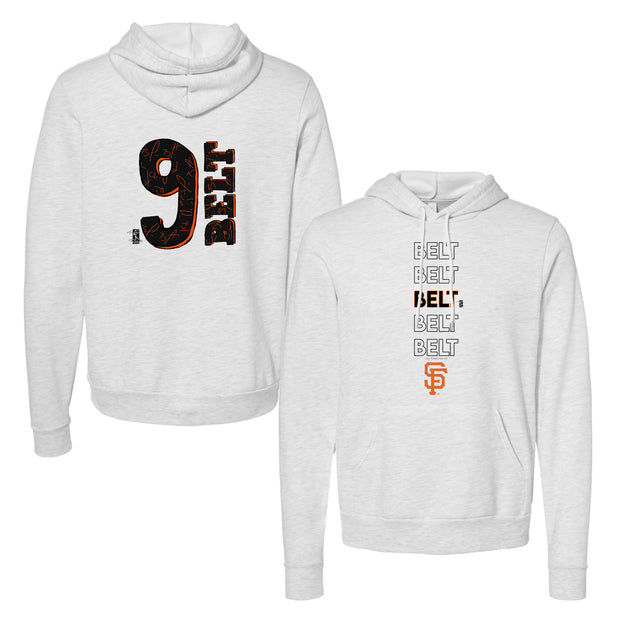 San Francisco Giants Brandon Belt Stacked Unisex Pullover Hoodie