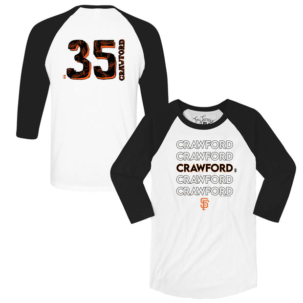 San Francisco Giants Brandon Crawford Stacked 3/4 Sleeve Raglan