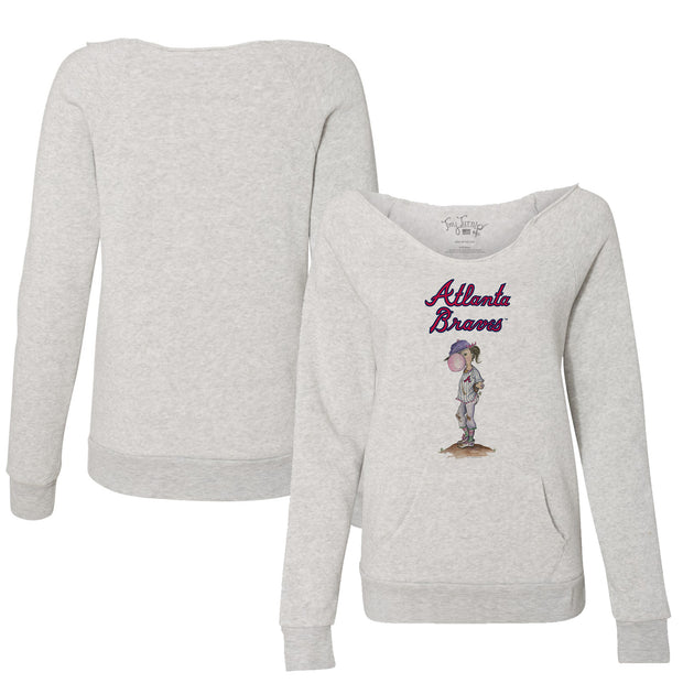 Atlanta Braves Bubbles Women's Slouchy Sweatshirt