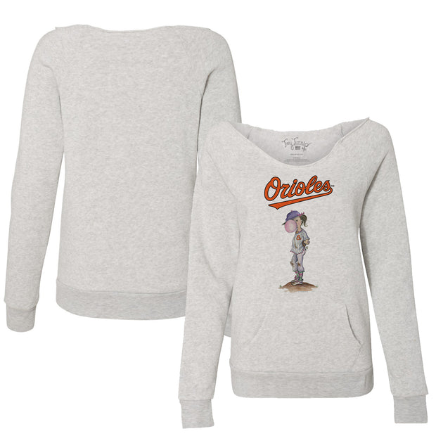 Baltimore Orioles Bubbles Women's Slouchy Sweatshirt