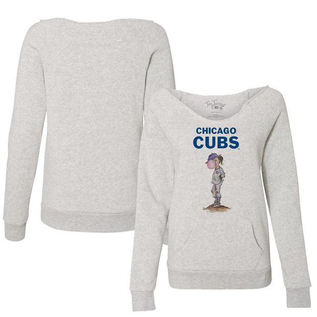Chicago Cubs Bubbles Women's Slouchy Sweatshirt