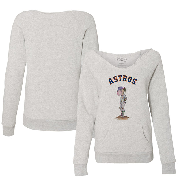 Houston Astros Bubbles Women's Slouchy Sweatshirt
