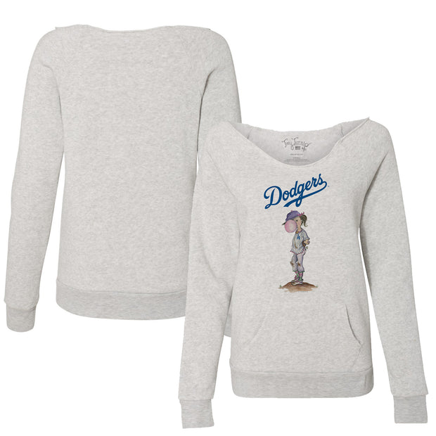 Los Angeles Dodgers Bubbles Women's Slouchy Sweatshirt