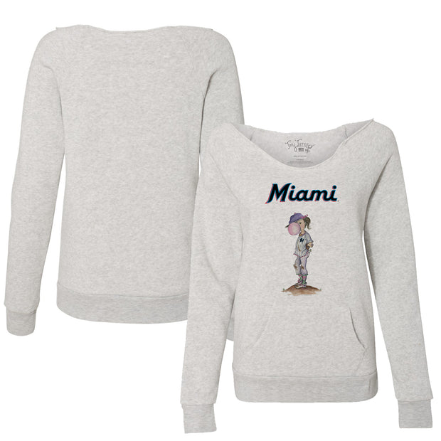 Miami Marlins Bubbles Women's Slouchy Sweatshirt