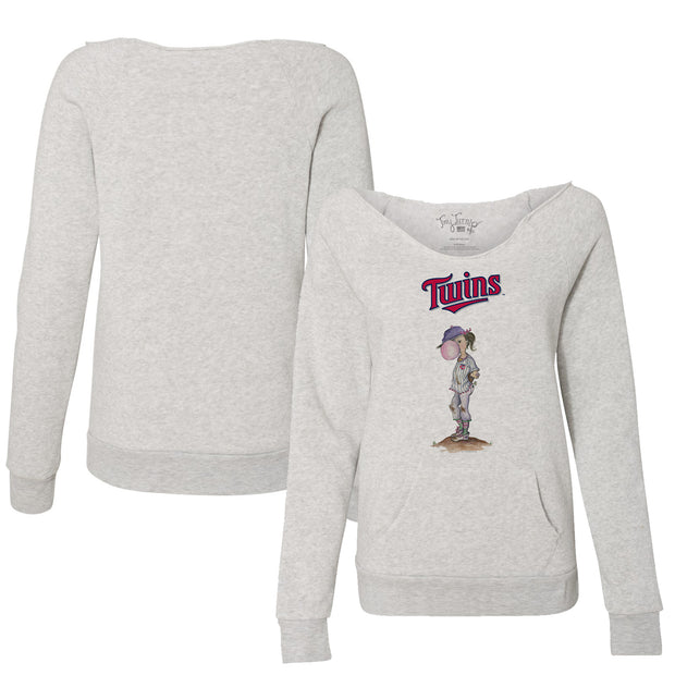 Minnesota Twins Bubbles Women's Slouchy Sweatshirt