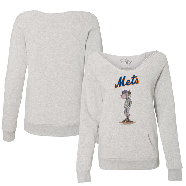 New York Mets Bubbles Women's Slouchy Sweatshirt