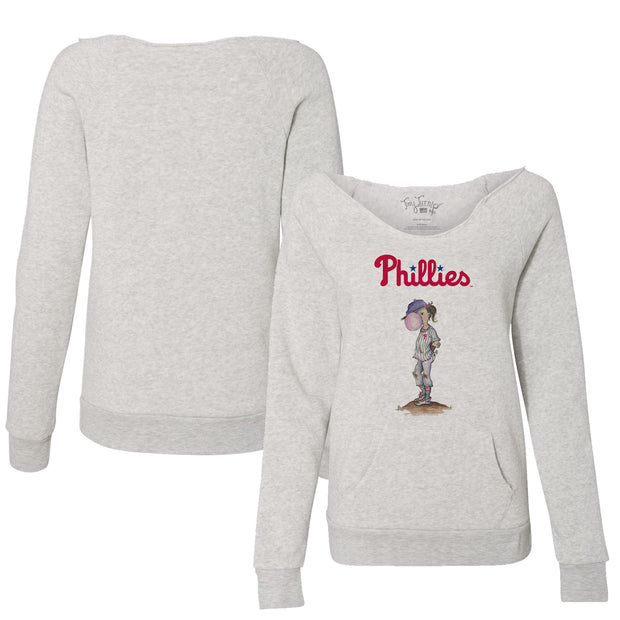 Philadelphia Phillies Bubbles Women's Slouchy Sweatshirt
