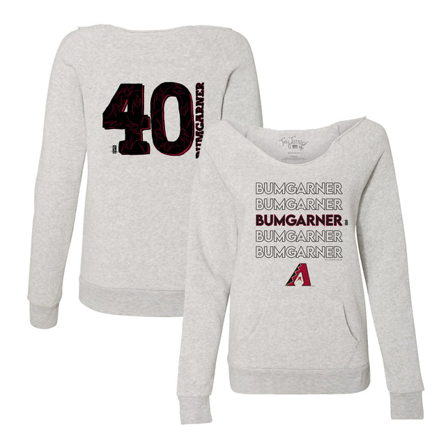 Arizona Diamondbacks Madison Bumgarner Stacked Women's Slouchy Sweatshirt