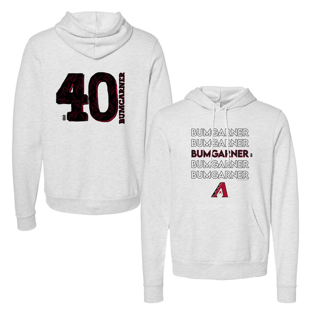 Arizona Diamondbacks Madison Bumgarner Stacked Unisex Pullover Hoodie