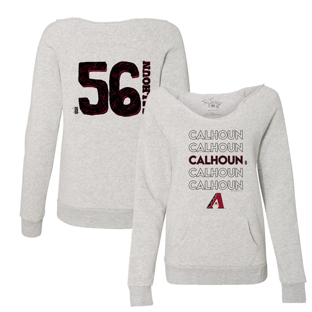Arizona Diamondbacks Kole Calhoun Stacked Women's Slouchy Sweatshirt