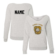 "Tiny Turnip ""Catch a Cure"" Women's Slouchy Sweatshirt"