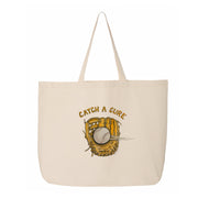 "Tiny Turnip ""Catch A Cure"" Canvas Tote Bag"