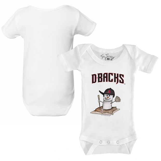 Arizona Diamondbacks S'mores Snowman Infant Short Sleeve Snapper
