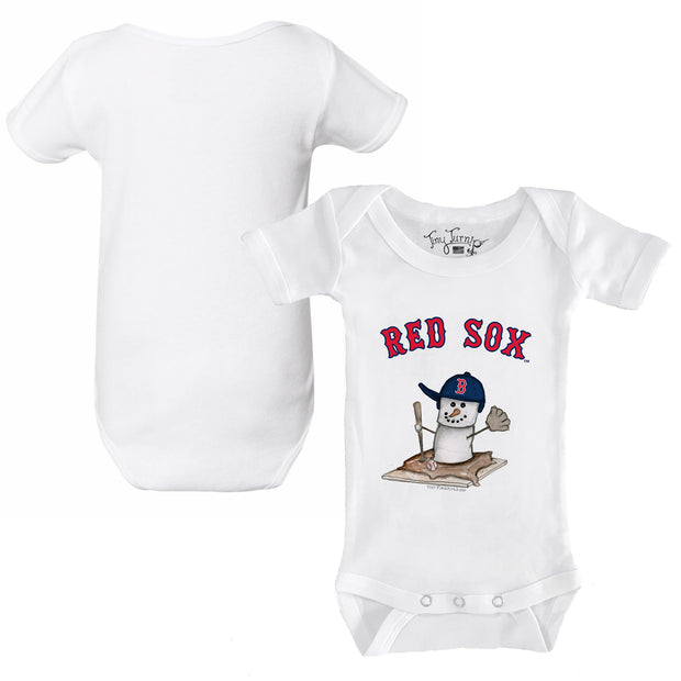 Boston Red Sox S'mores Snowman Infant Short Sleeve Snapper