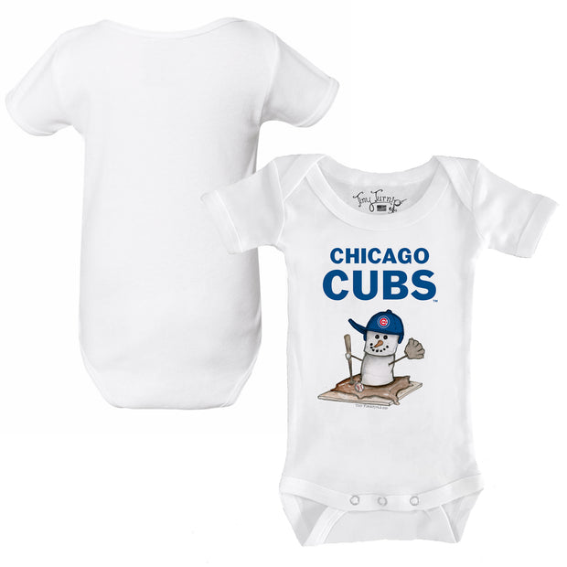 Chicago Cubs S'mores Snowman Infant Short Sleeve Snapper