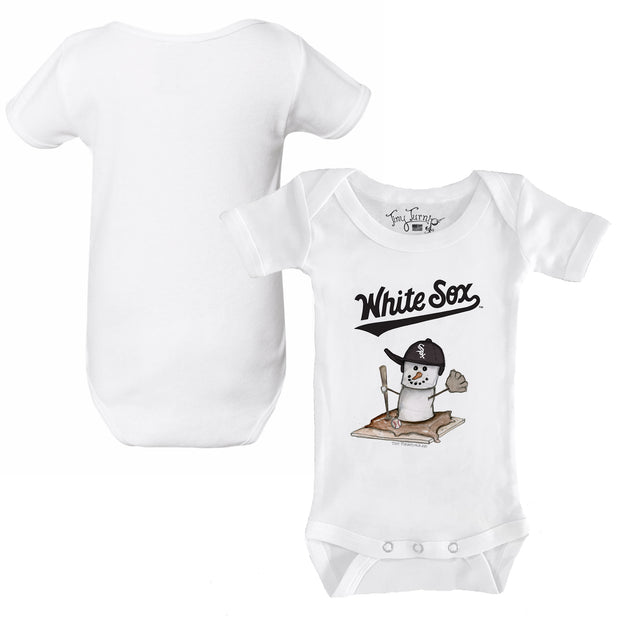 Chicago White Sox S'mores Snowman Infant Short Sleeve Snapper