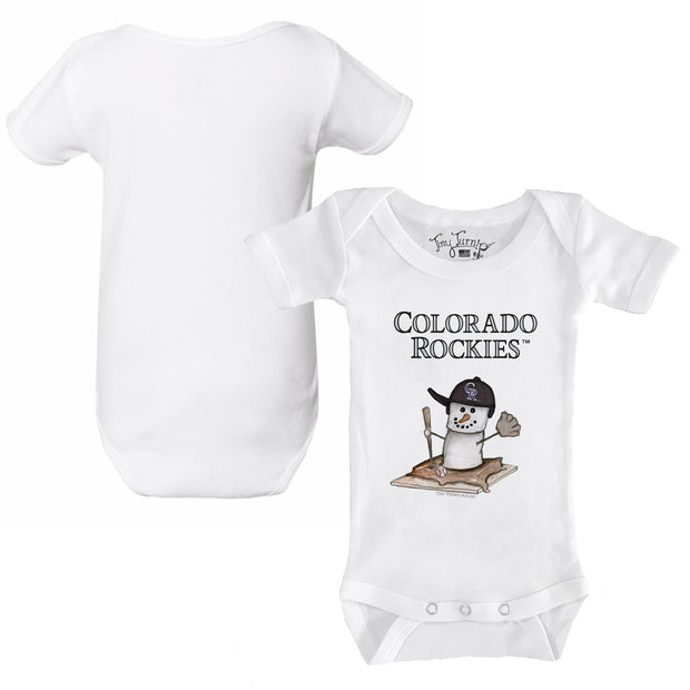 Colorado Rockies S'mores Snowman Infant Short Sleeve Snapper