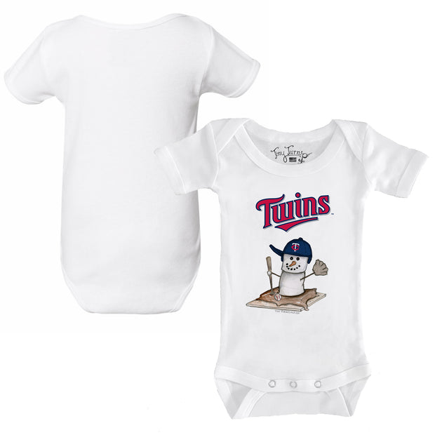 Minnesota Twins S'mores Snowman Infant Short Sleeve Snapper