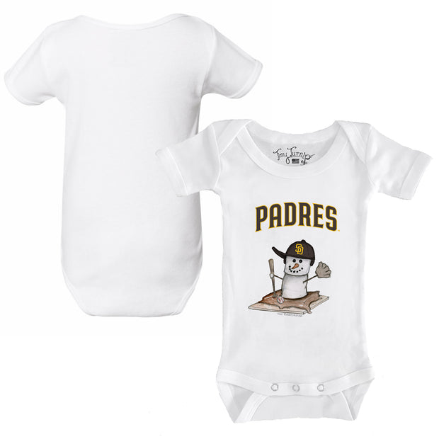 San Diego Padres S'mores Snowman Infant Short Sleeve Snapper
