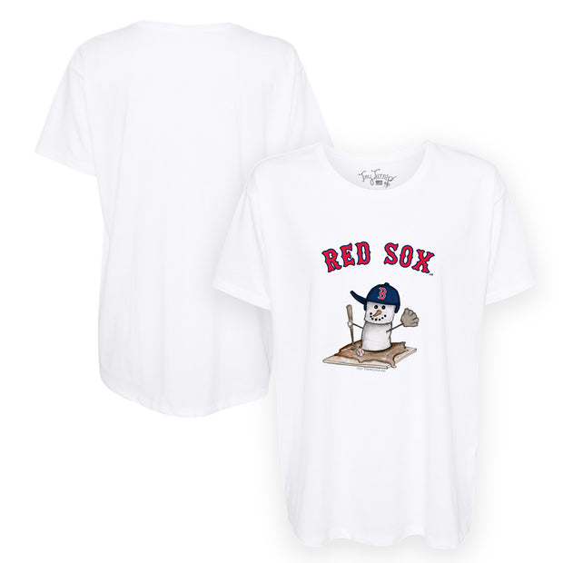 Boston Red Sox S'mores Snowman Tee Shirt