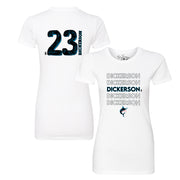 Miami Marlins Corey Dickerson Stacked Tee Shirt
