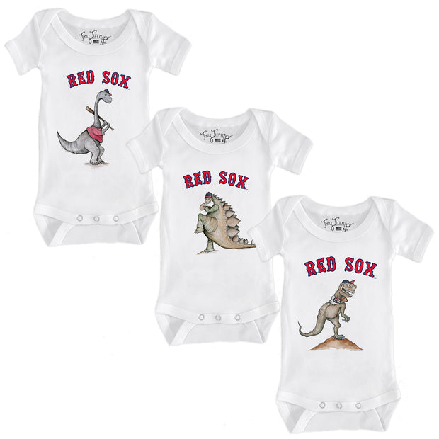 Boston Red Sox Dino Infant Short Sleeve Snapper Bundle