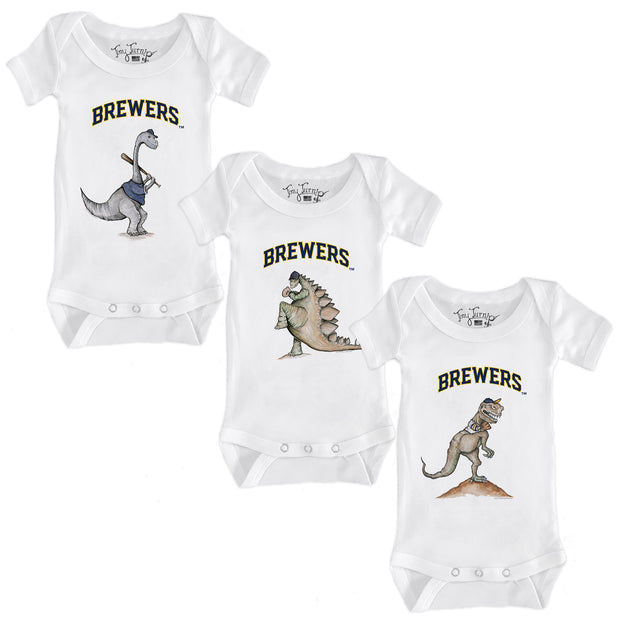 Milwaukee Brewers Dino Infant Short Sleeve Snapper Bundle