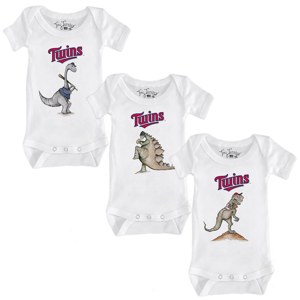 Minnesota Twins Dino Infant Short Sleeve Snapper Bundle