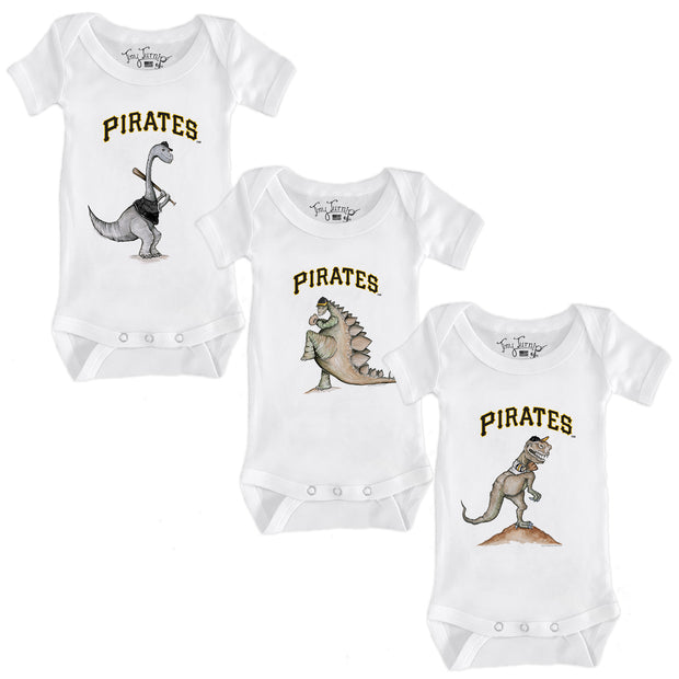 Pittsburgh Pirates Dino Infant Short Sleeve Snapper Bundle