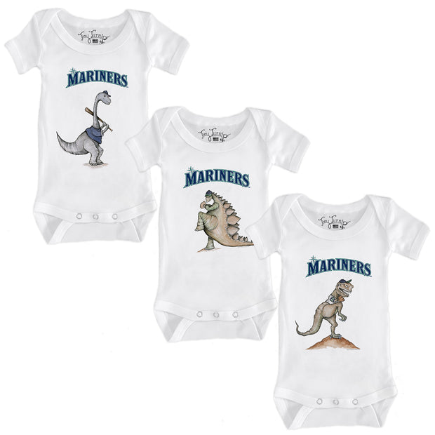Seattle Mariners Dino Infant Short Sleeve Snapper Bundle