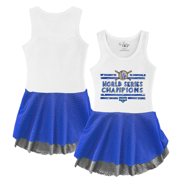 Los Angeles Dodgers 2020 World Series Champions Stars and Stripes Double Mesh Tank Dress