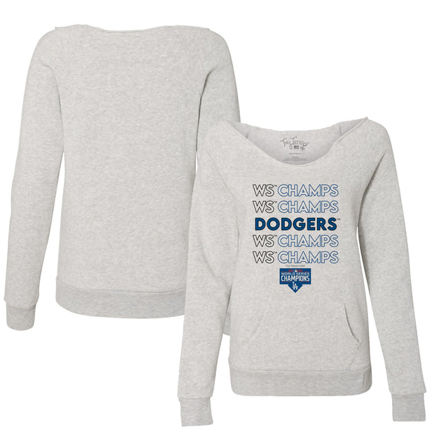 Los Angeles Dodgers 2020 World Series Champions Stacked Slouchy Sweatshirt