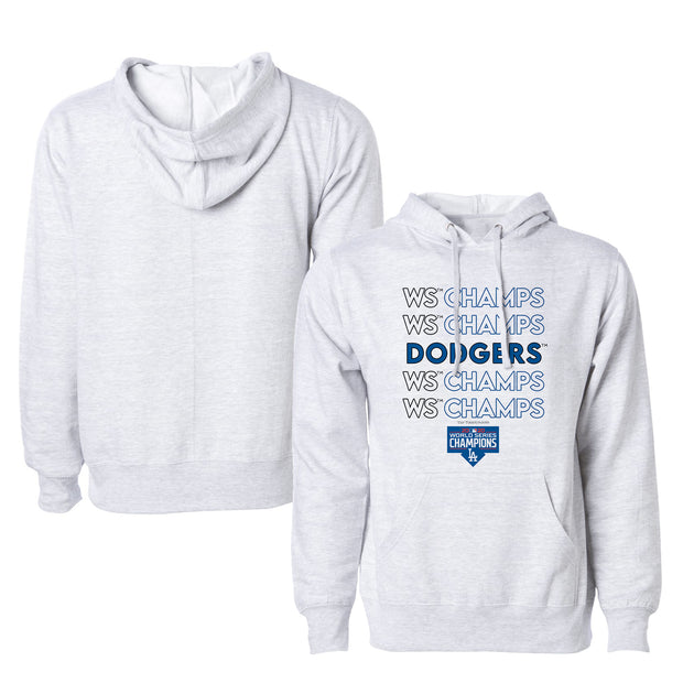 Los Angeles Dodgers 2020 World Series Champions Stacked Unisex Pullover Hoodie