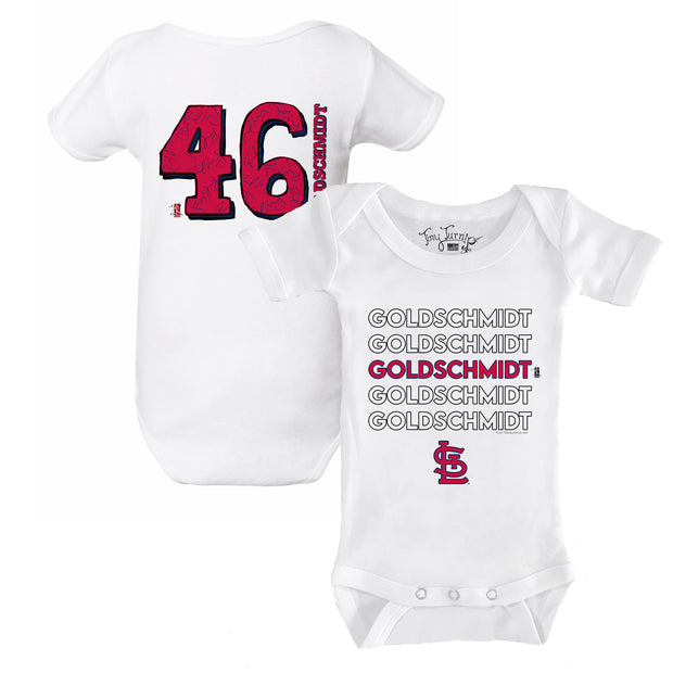 St. Louis Cardinals Paul Goldschmidt Stacked Short Sleeve Snapper
