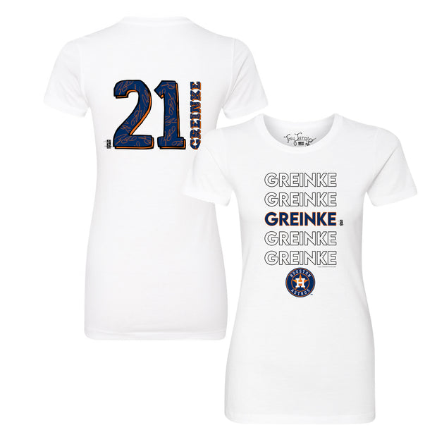 Houston Astros Zack Greinke Stacked Tee Shirt