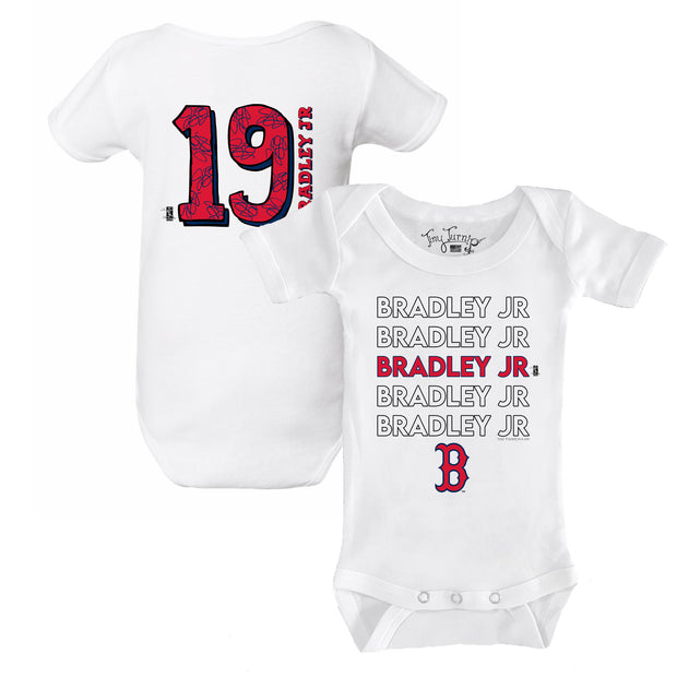 Boston Red Sox Jackie Bradley Jr. Stacked Short Sleeve Snapper
