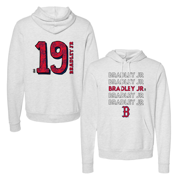 Boston Red Sox Jackie Bradley Jr. Stacked Unisex Pullover Hoodie