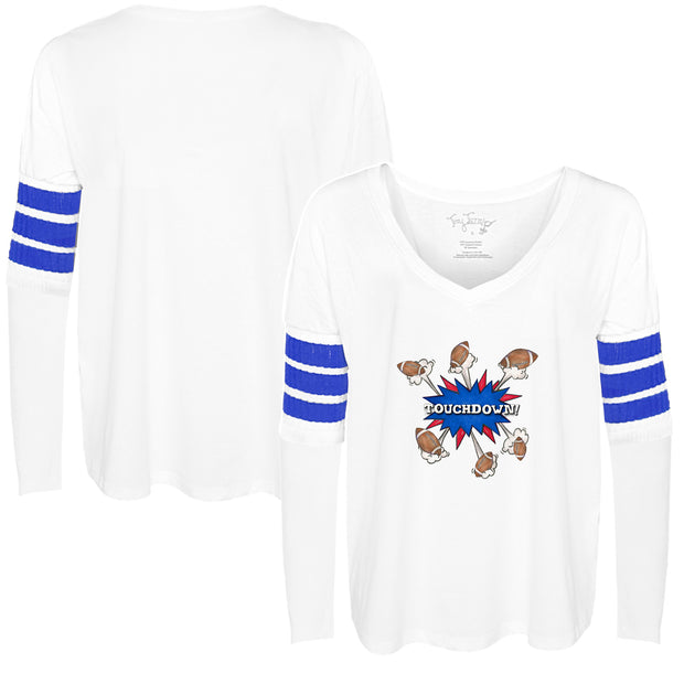 Tiny Turnip Football Touchdown! Long Sleeve Jalynne Jersey