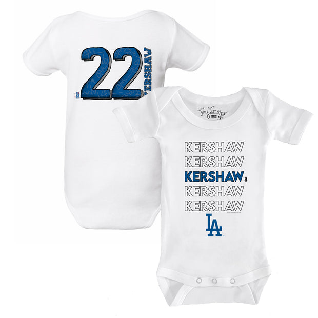 Los Angeles Dodgers Clayton Kershaw Stacked Short Sleeve Snapper