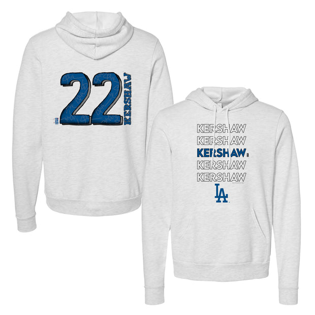Los Angeles Dodgers Clayton Kershaw Stacked Unisex Pullover Hoodie