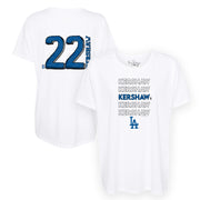 Los Angeles Dodgers Clayton Kershaw Stacked Tee Shirt